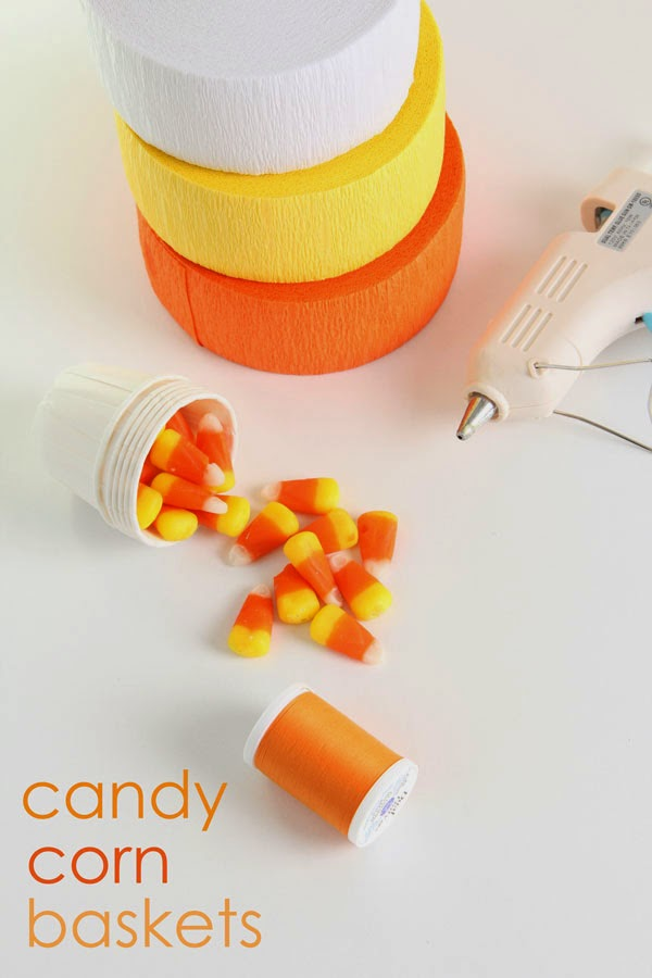 DIY Candy Corn Baskets (1) | Ridgely's Radar