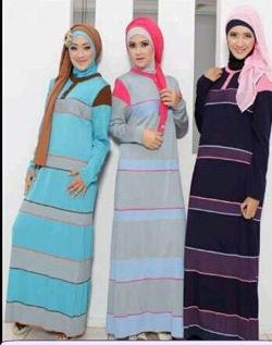 pilihan koleksi baju gamis rajutan murah untuk muslimah tampil sopan dan syar'i