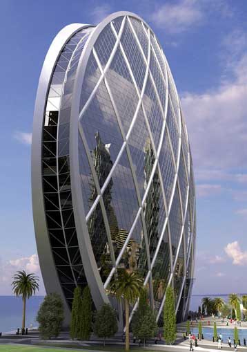 Coin like aldar head quarter building in abu dhabi photos for Architectural design companies in abu dhabi