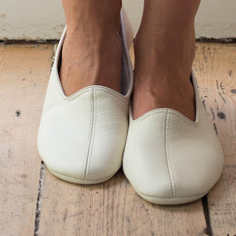 Leather house/ travel slippers