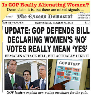 War on Women political cartoon