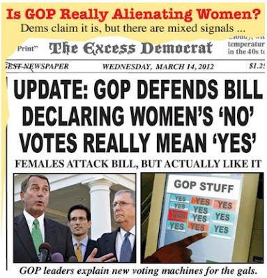War on Women political cartoon