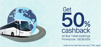 50% cashback on bus booking by paytm findlatestoffers.blogspot.com