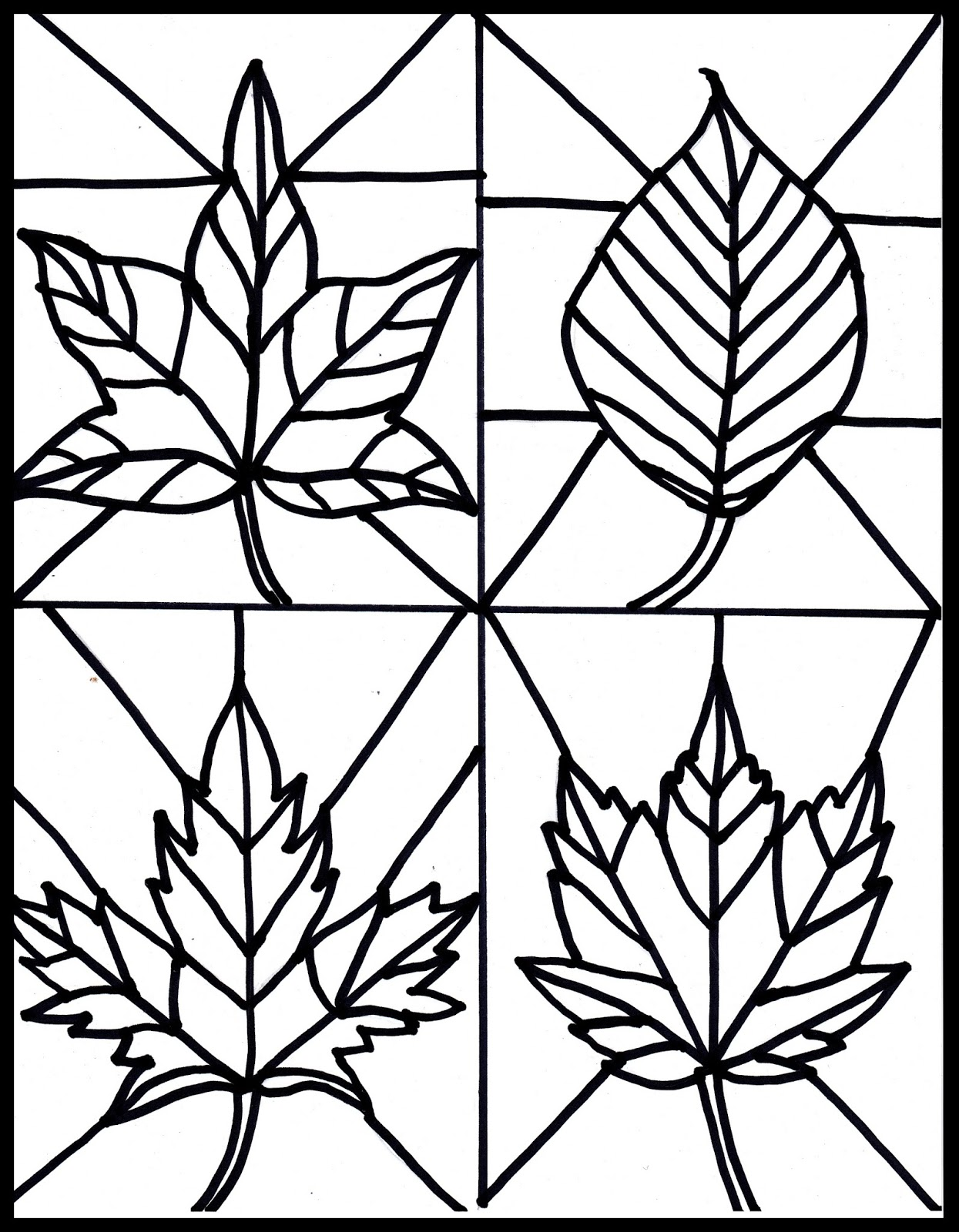 Make it easy crafts: Kid\'s Craft- stained glass leaves free printable