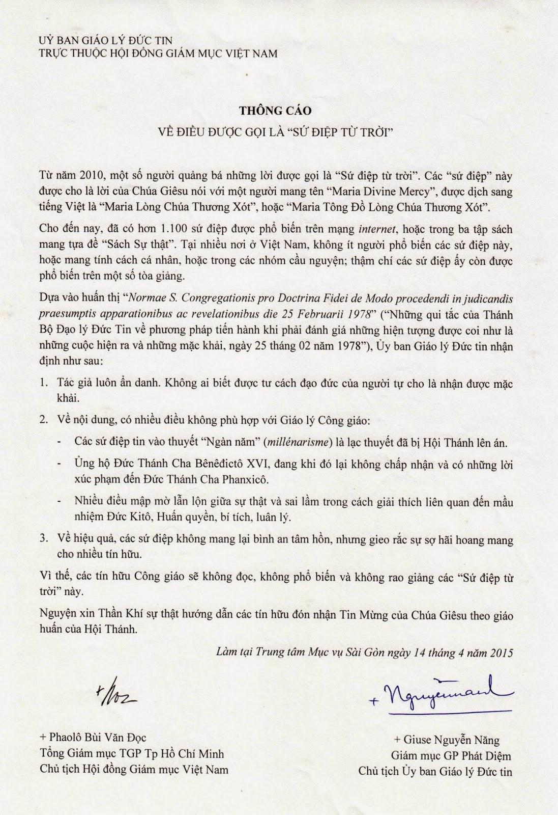 Cảnh báo lạc giáo: Sứ Điệp Từ Trời ở Việt Nam - Ảnh minh hoạ 2