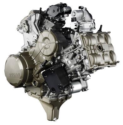 2012 Ducati Superquadro 195hp L-twin Engine