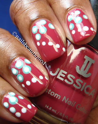 Dot on Dots Nail Art