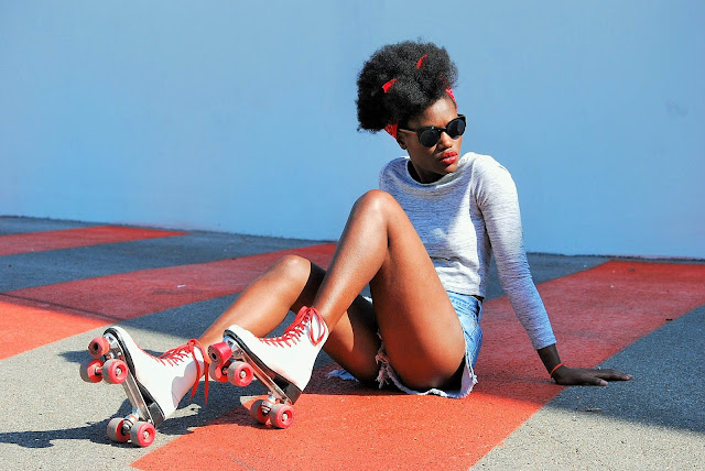 coupe afro, short taille haute, crop top, blog mode afro