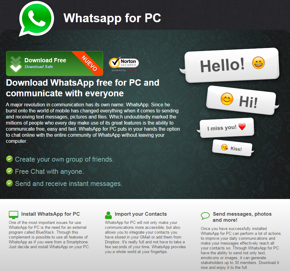 how to download and install whatsapp for pc