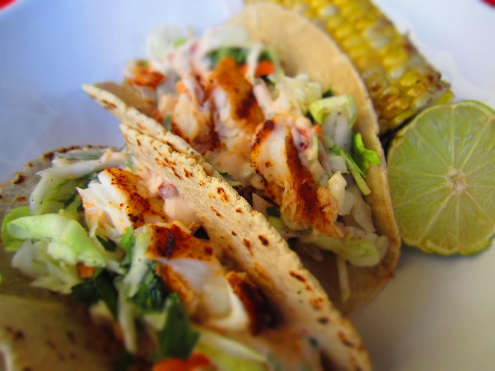 ... Grilled Fish Tacos with Chipotle-Lime Sauce