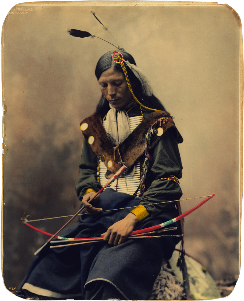 Bone Necklace, Oglala Sioux council chief by Heyn Photo 1899