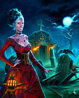 lukas thelin, fenix, cover, rollspel, woman vampire, grave, graveyard