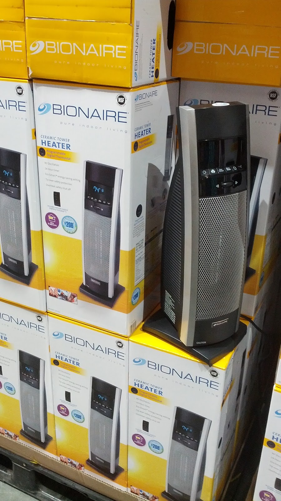 Bionaire Digital Ceramic Tower Heater For The Home