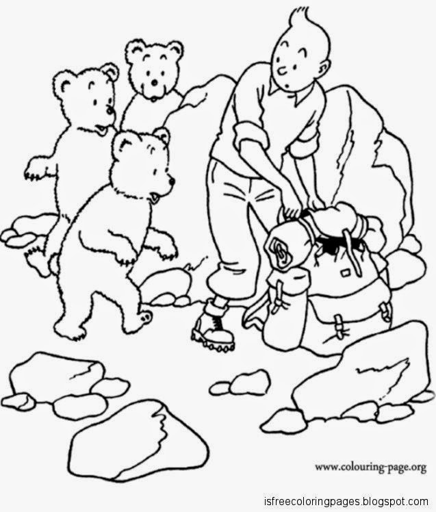 Tintin Coloring Pages Free Coloring Pages