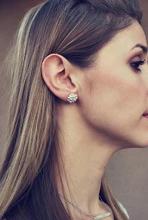 Silver post earrings for sale at shop.haroldstudio.com