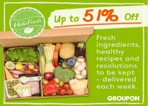 Groupon Hello Fresh Extra 10% Off Promo Code