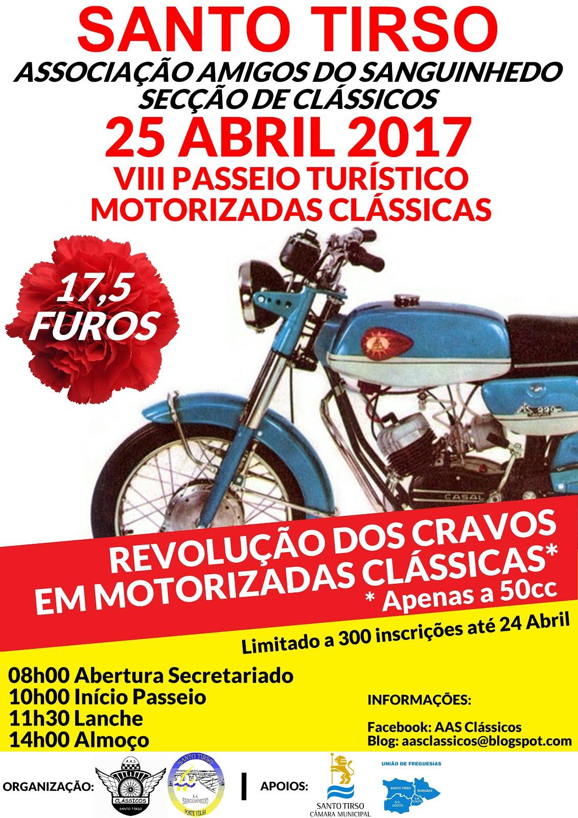 VIII Passeio Turístico de Motorizadas Clássicas - 25 Abril 2017