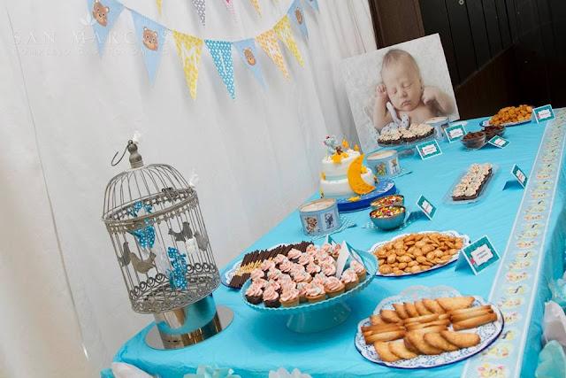 Mesa dulce Bautizo niño tarta decoracion fondant galletas decoradas tematica ositos elefantes girnalda, globos, elio Gandia, xativa ontinyent alcoy albaida sugar dreams