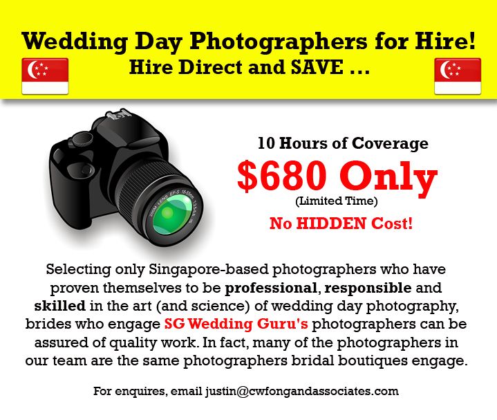 Best Wedding Day Photography Package Singapore