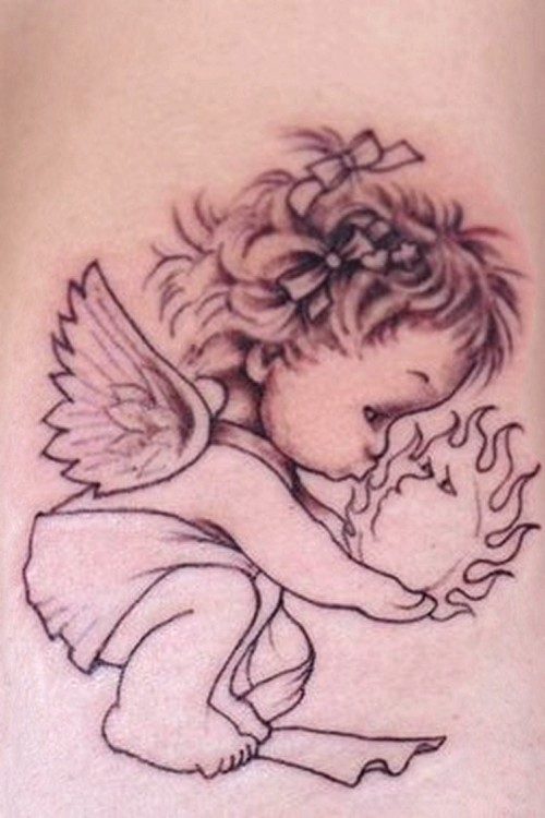 Baby Angel Tattoo Designs