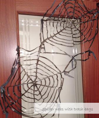 Spider webs trash bags