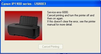 Canon 1980 |  1880 error 6000