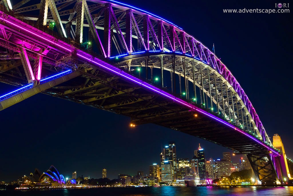 Philip Avellana, Australian Landscape Photographer, Vivid Sydney, Event, CBD, NSW, New South Wales, Australia, lighting, long exposure, 2013, light pattern, Sydney Opera House, Harbour Bridge, Luna Park