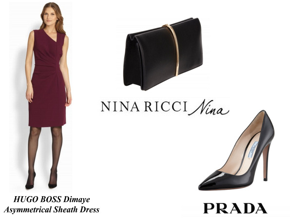 Queen Letizia's Hugo Boss Dress, Nina Ricci Bag And Prada Pumps