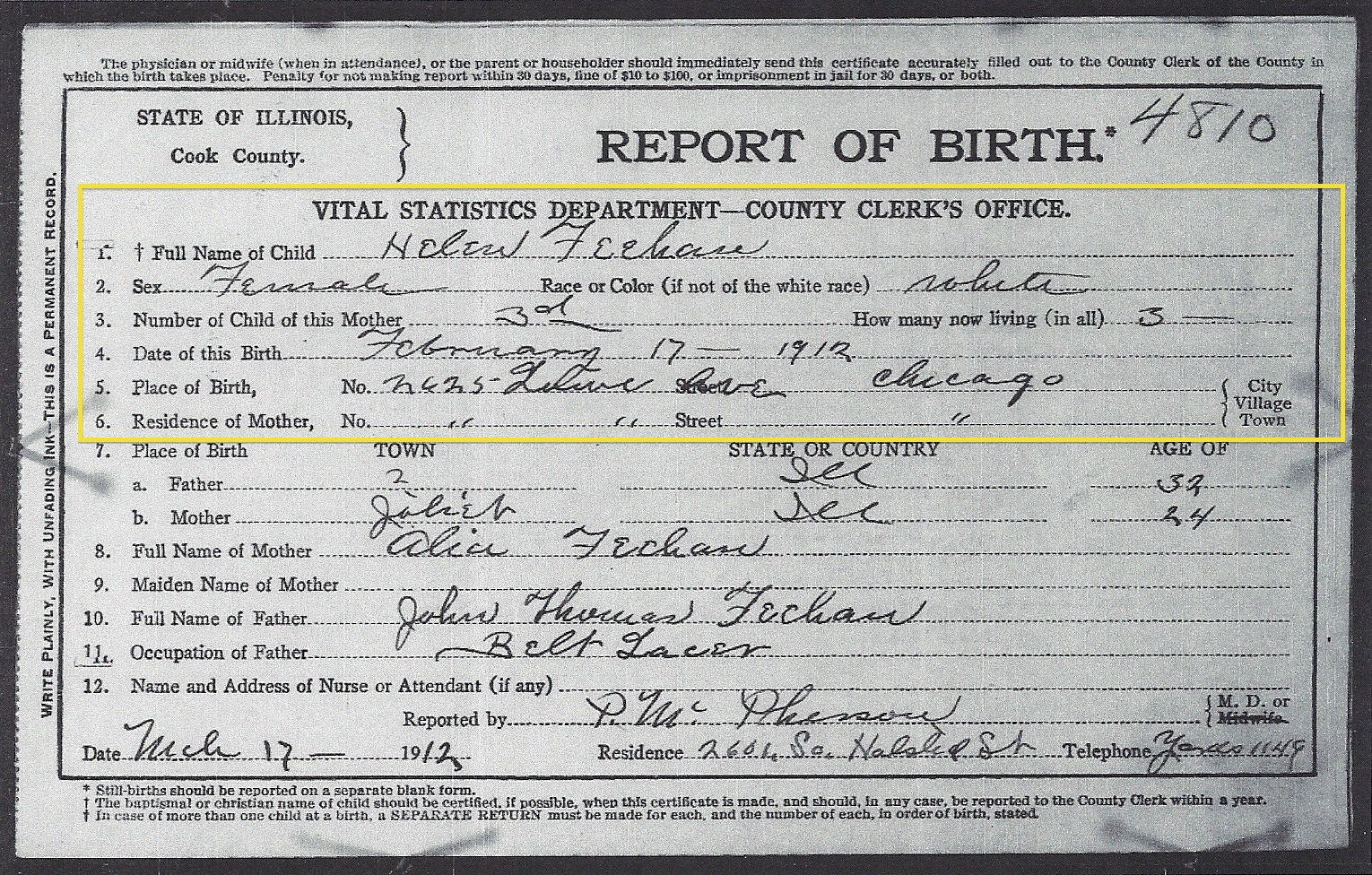 Joliet Genealogy Discovering Baptism Records From The Chicago