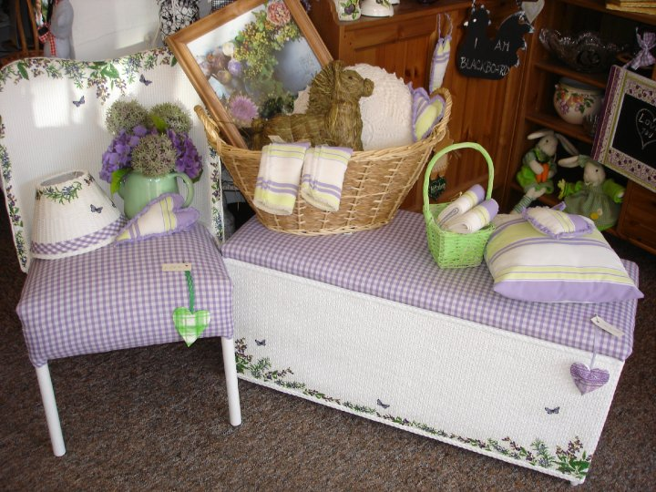 Custom Lilac Wicker Furniture...
