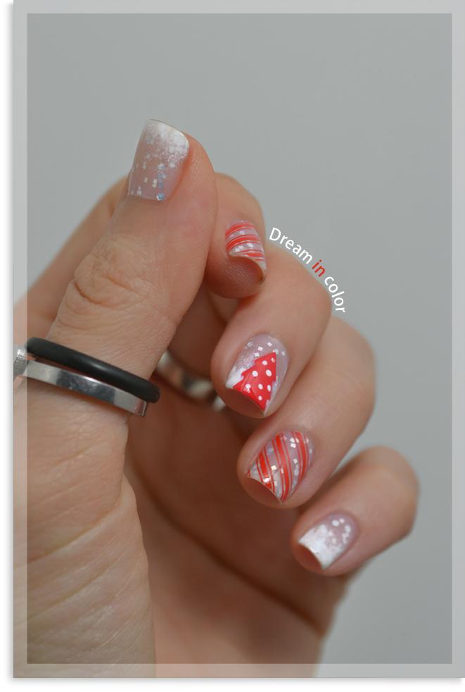 Nail Art Sapin Noel stamping