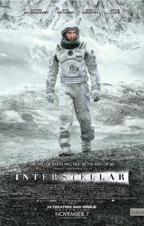 Interstellar poster with Matthew McConaughey