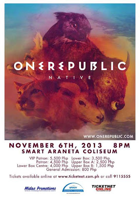 One Republic Live in Manila 2013