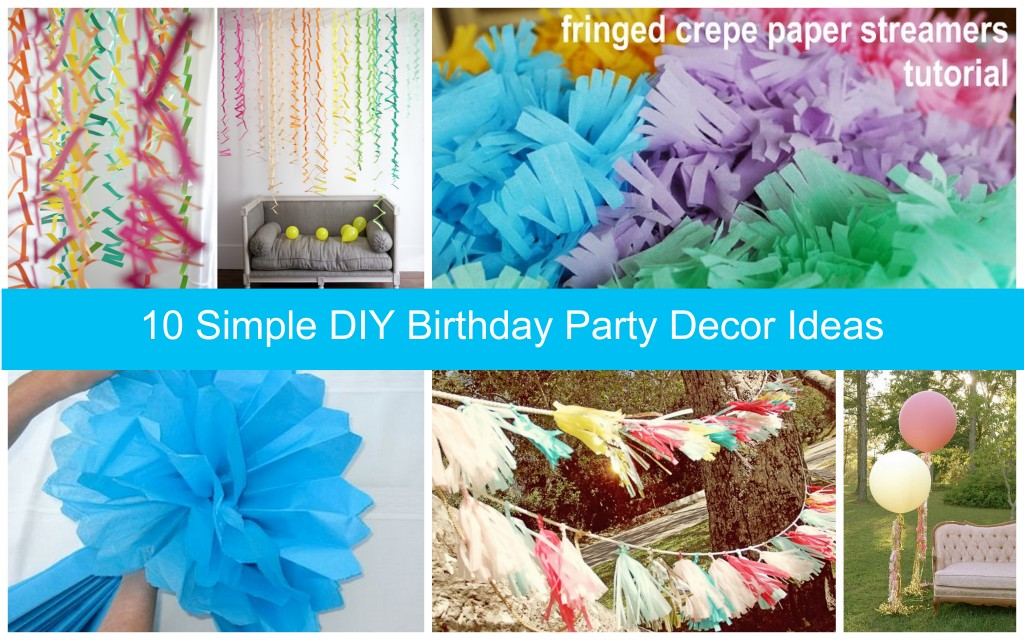 diy birthday party decor