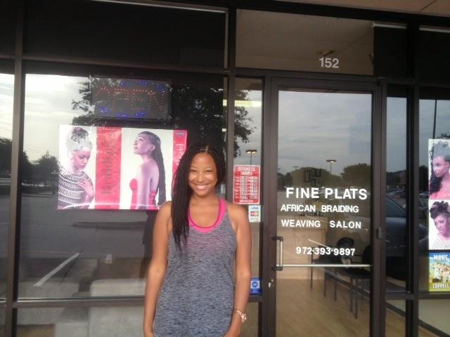 Fine Plats Braiding Salon Leah Frazier Dallas Blogger Senegalese Twist