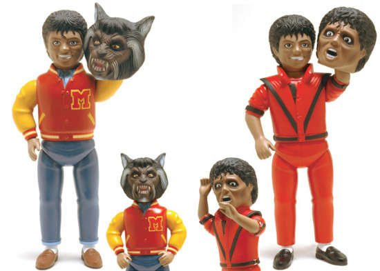 Michael jackson thriller werewolf toy for Three jackson toy
