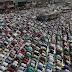 Bangladeshi Muslim devotees offer prayers