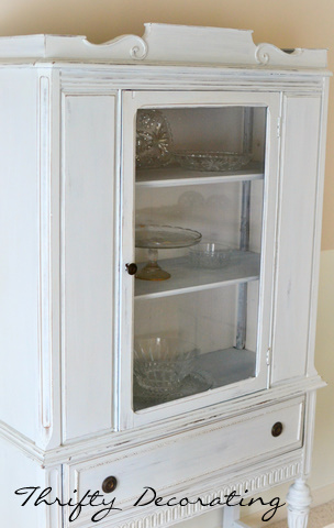 Thrifty Decorating: French-inspired Craig\'s list hutch. . . .
