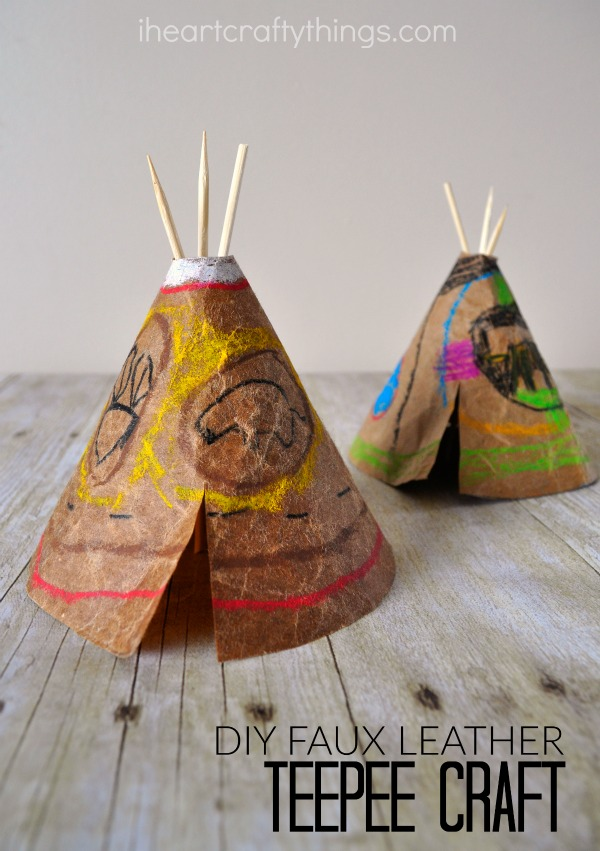 Making Teepees With Coffee For Kids