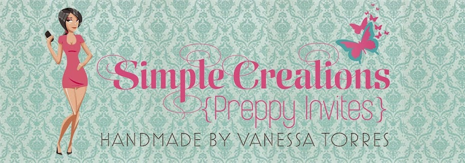 Simple Creations {Preppy Invites}