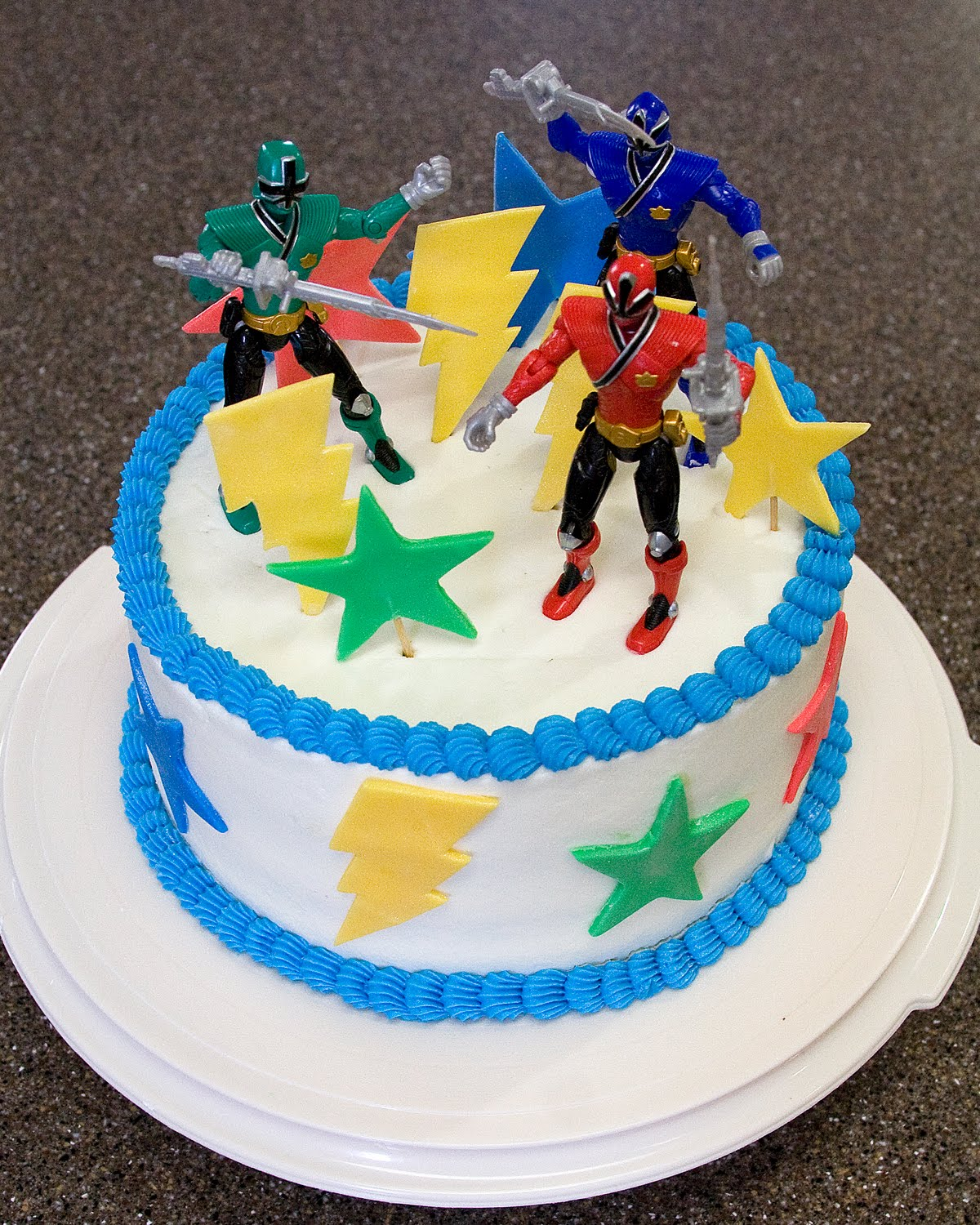 Power Ranger Dino Charge Cake Decorations