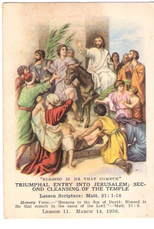 Entrada triunfal de Jesus em Jerusalém