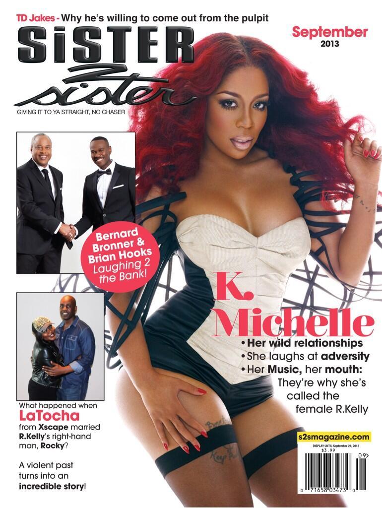 Magazine Love: K. Michelle Graces September Issue of Sister2Sister Magazine!