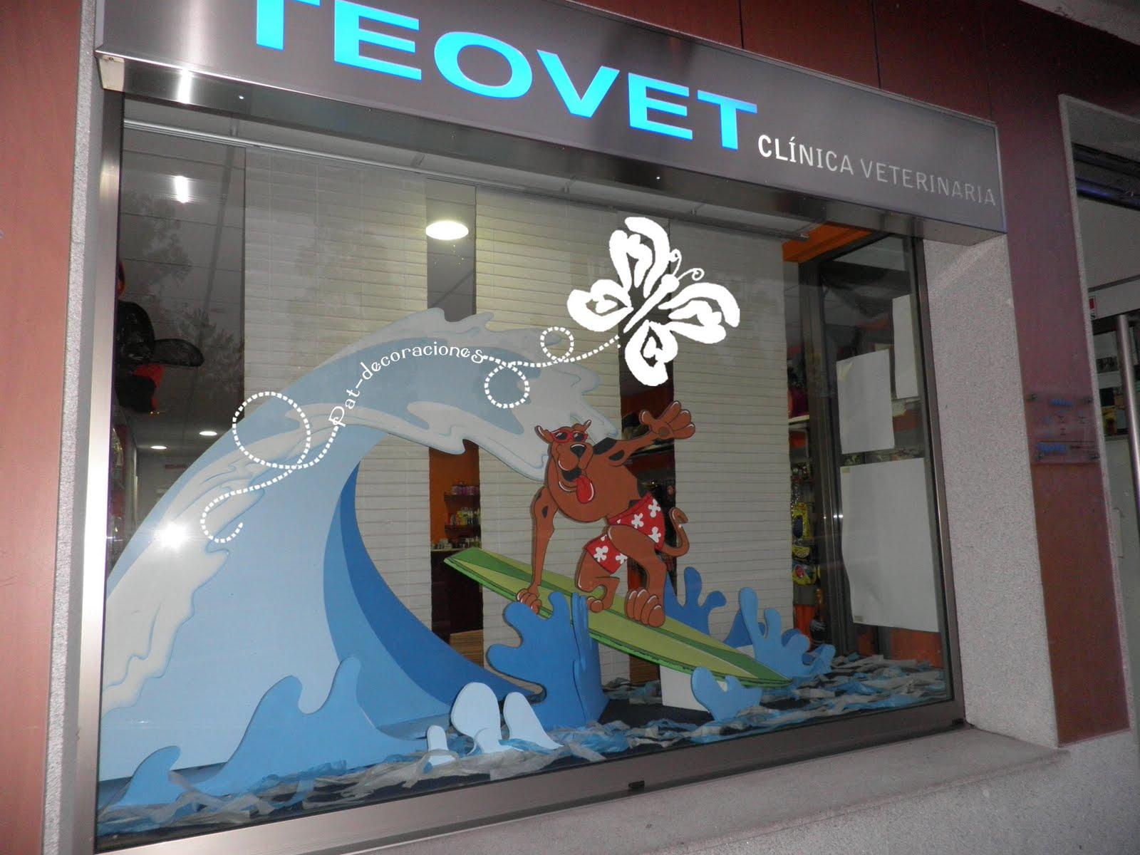 Pat decoraciones escaparate de cl nica veterinaria - Diseno de clinicas veterinarias ...