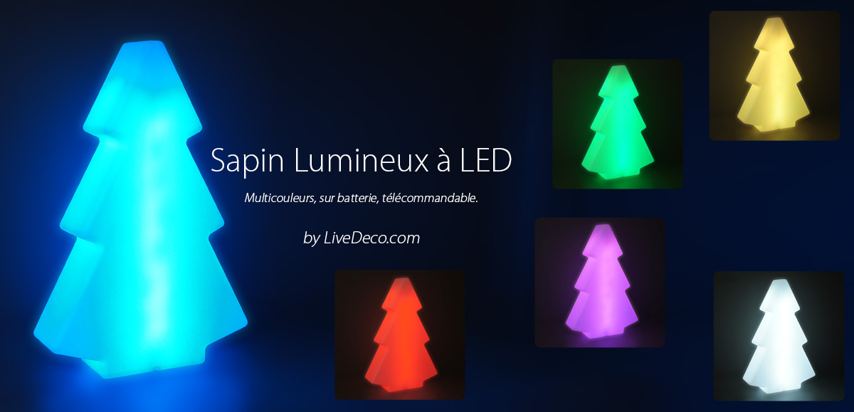 Sapin lumineux led xl by livedeco for Sapin led interieur