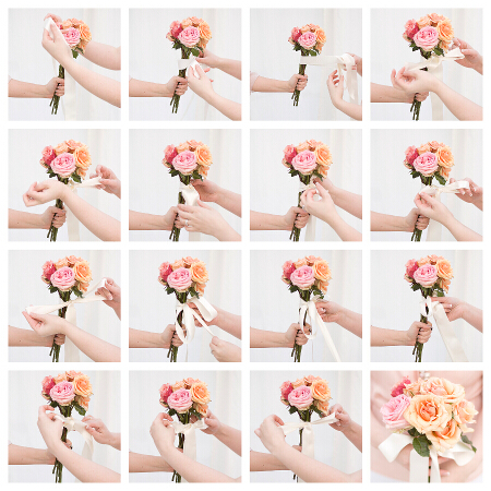 DIY bouquet for bridesmaids - series