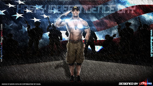 "Wallpaper » Download ""USA Independence Day"" Special Wallpaper (Feat. John Cena) - Designed By Uday Rai Via iPOST"