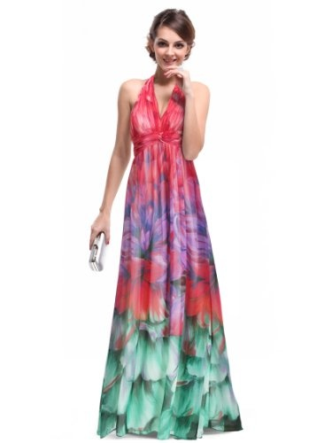 Colorful maxi dress for summers