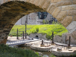 Beneath Stone Arch Bridge