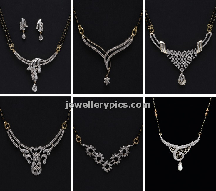 Diamond mangalsutra designs by pc jewellers latest jewellery designs diamond mangalsutra designs by pc jewellers aloadofball Gallery